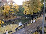 Вид на пруд с бывших казематов Лопатинского сада