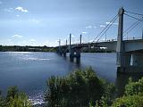 Шикарный мост через Волгу в Кимрах