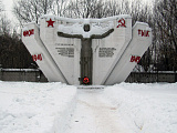 Памятник воинам в районе Глухово