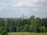 Вид на монастырь из Истры