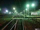 ЖД станция ночью