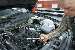 Проверка компрессии двигателя. Результаты измерения